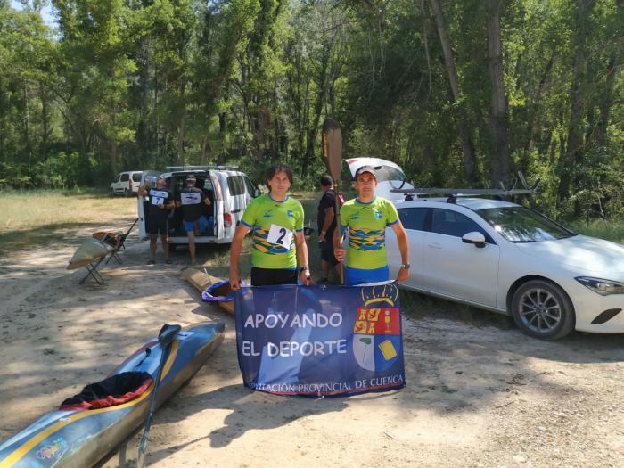 """El Club de piragüismo """"Las Grajas"""" en el descenso del Tajo Trillano"""