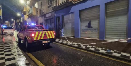 Los bomberos tuvieron una veintena de intervenciones por la lluvia de la noche del martes