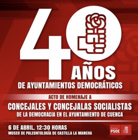 La Agrupación Local del PSOE rinde homenaje a los concejales socialistas del Ayuntamiento de Cuenca desde 1979