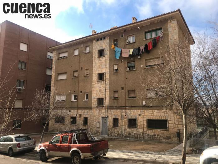 Viviendas en el barrio de La Paz en Cuenca