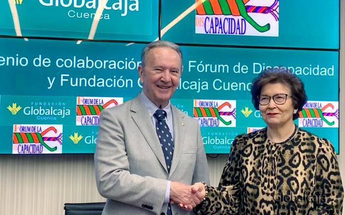 La Fundación Globalcaja renueva el convenio de colaboración con el Fórum de la Discapacidad de Cuenca