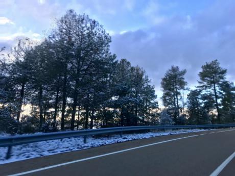 En aviso amarillo por nevadas y vientos