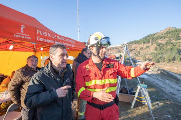 Francisco Tierraseca valora la coordinación y la rapidez de actuación en el incendio de Paterna del Madera