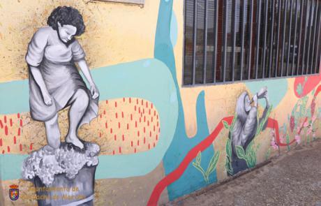 Un mural para homenajear el trabajo de la mujer