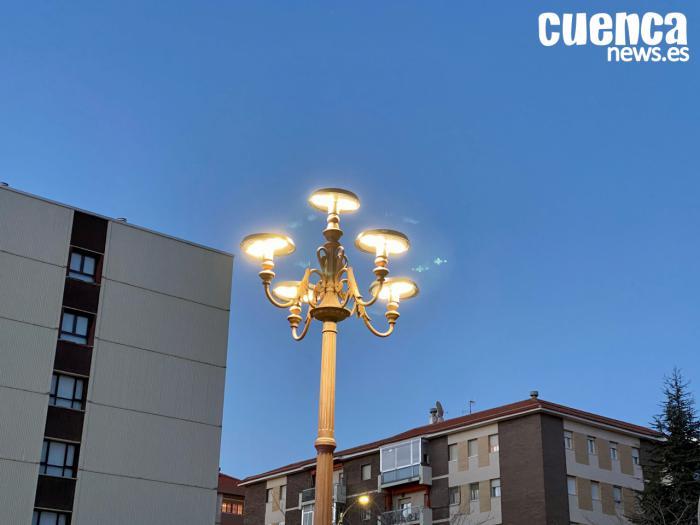 Nueva iluminación led en el centro de la ciudad