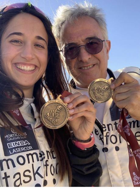 Los conquenses Manolo y Mónica Plaza acaban el Dakar en la 45 posición
