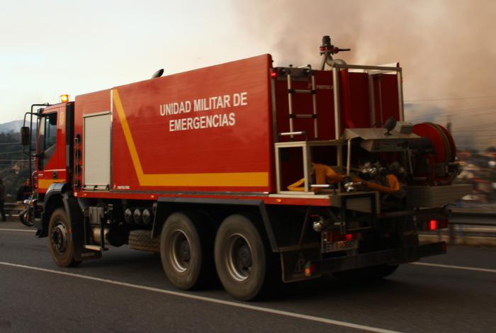 La Unidad Militar de Emergencias se incorpora a las labores de extinción del incendio de Barchín del Hoyo