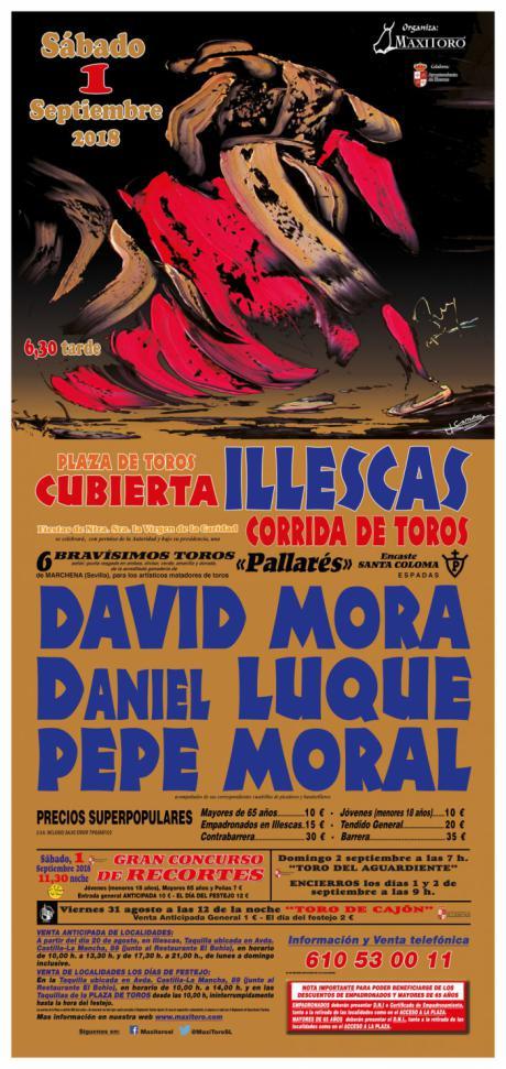 David Mora, Daniel Luque y Pepe Moral con una gran corrida de Pallarés, en Illescas