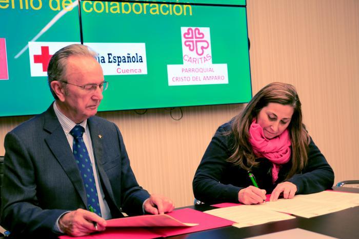 La Fundación Globalcaja Cuenca y el Consejo de Caridad Cristo del Amparo renuevan su colaboración