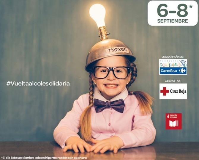 Fundación Solidaridad Carrefour y Cruz Roja ponen en marcha la 'Vuelta al Cole Solidaria' a favor de la infancia en riesgo social de Cuenca
