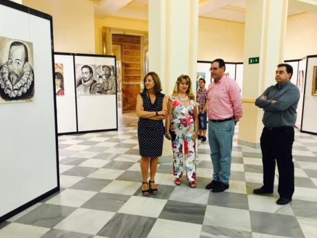 La Mancha, motivo principal de la muestra de la artista toledana Paquita Cordones en la Diputación