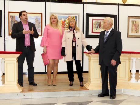 Marisa González muestra en la Diputación una retrospectiva de su obra con la exposición 'Acuarelas'