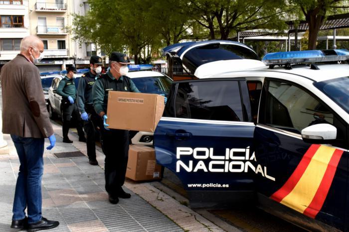 El Gobierno de España reparte en Cuenca 40.000 mascarillas a Fuerzas y Cuerpos de Seguridad y Protección Civil