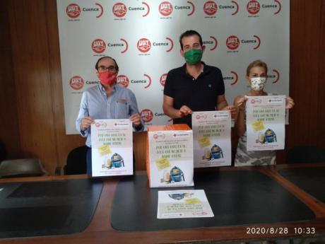 """UGT Cuenca inicia una recogida de material escolar y productos básicos a beneficio de Cruz Roja para una vuelta al cole """"sin dejar a nadie atrás"""""""