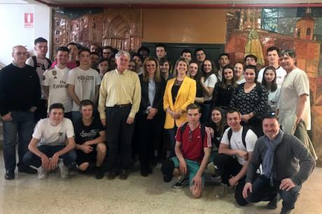 La Junta destaca la importancia de los intercambios educativos como el del IES Fernando Zóbel y el Lycée Carnot de Francia