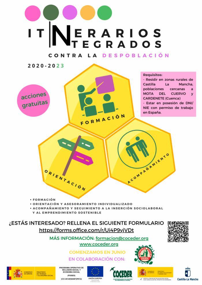 COCEDER comienza en junio los Itinerarios integrados para luchar contra la despoblación en dos zonas de Cuenca