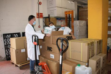 Llegan 5.200 test rápidos para el área de Salud de Cuenca y más de 22.000 artículos de protección