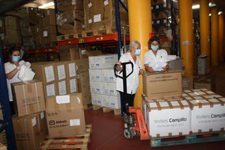 El área de Salud de Cuenca ha recibido un nuevo envío de Sanidad de más de 36.000 artículos de protección