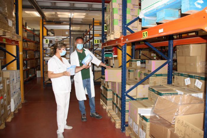 El área de Salud de Cuenca ha recibido de Sanidad una nueva partida con más de 119.000 artículos de protección