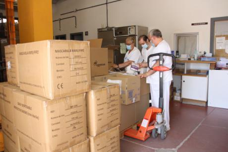 El área de Salud de Cuenca ha recibido un nuevo envío de Sanidad con más de 350.000 artículos de protección
