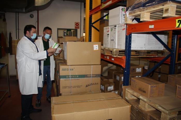 El área de Salud de Cuenca recibe otros 2.800 test rápidos y más de 22.000 artículos de protección