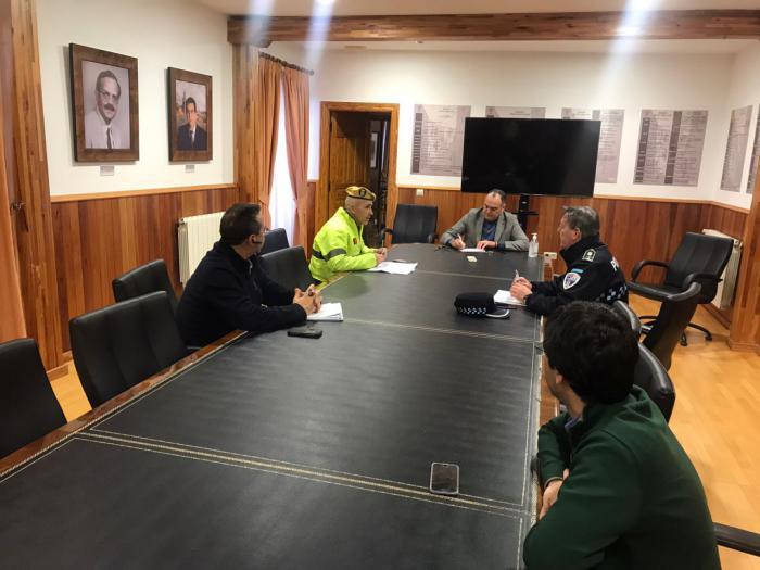 La UME interviene en Tarancón para verificar el cumplimiento de las normas adoptadas por las autoridades
