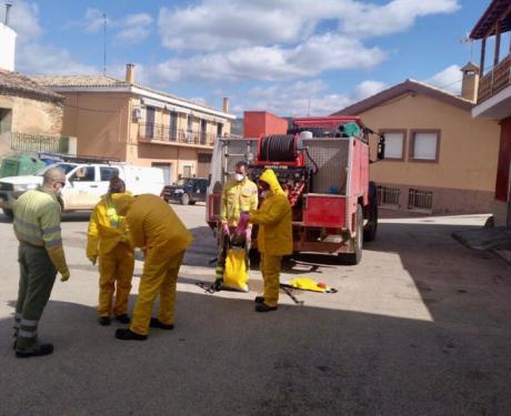 Geacam colabora con el Ayuntamiento en la desinfección de las pedanías