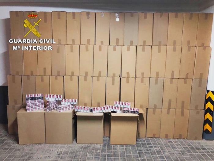 La Guardia Civil detiene a una persona por contrabando de tabaco