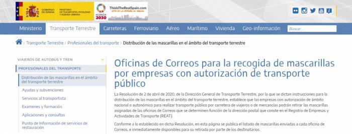CEOE CEPYME Cuenca informa de que las empresas con tarjetas de transporte público disponen de mascarillas