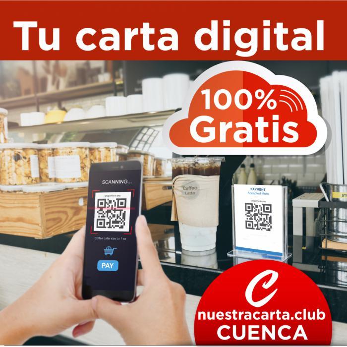 Carta digital gratuita para los hosteleros conquenses