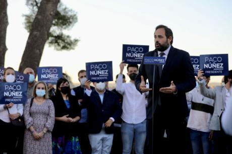 """Núñez: """"El PP ha venido para quedarse, para ganar las elecciones, para gobernar Castilla-La Mancha y para conquistar el futuro de los castellanomanchegos"""""""