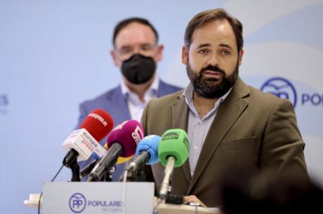 Núñez reclama en Cuenca a Page que ordene a los diputados nacionales el PSOE-CLM que voten a favor de la propuesta de Casado para bajar el precio de la luz