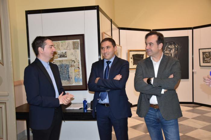 La exposición 'Obras destacadas' muestra al público una recopilación del arte que tiene la Diputación