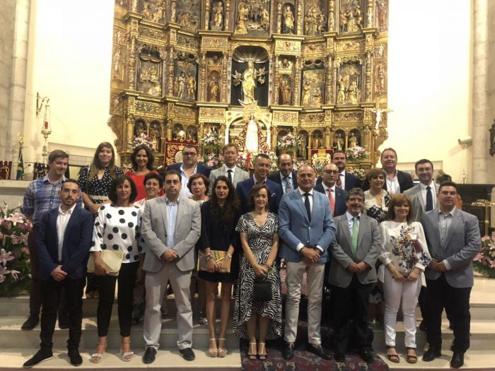 Un total de 13 alcaldes participan en la ofrenda de flores a la Virgen de Riánsares en Tarancón