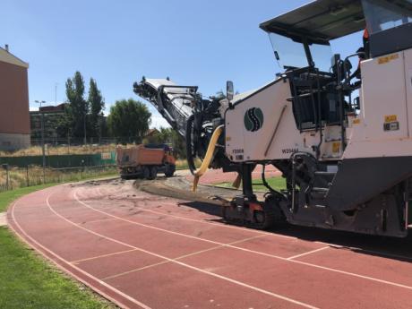 Comienzan las obras de la pista de atletismo del Luis Ocaña