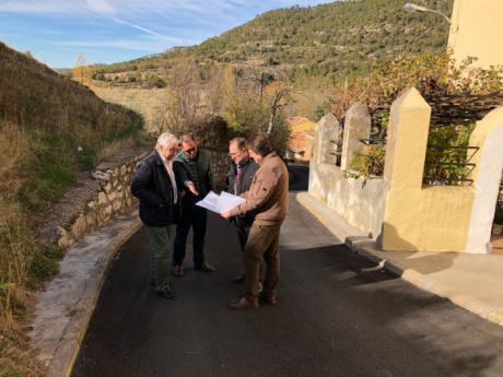 El Ayuntamiento recibe obras del Plan de Obras y Servicios de 2016 realizadas en varias pedanías