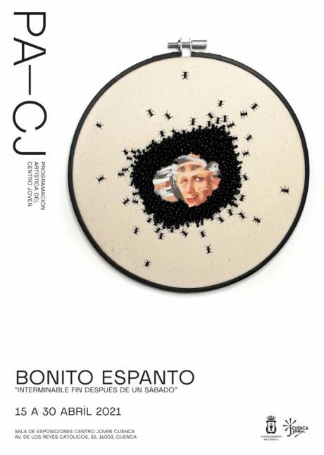 El bordado artesano llevado al terreno artístico protagoniza la exposición de Pequeño Espanto que hoy inaugura el Centro Joven