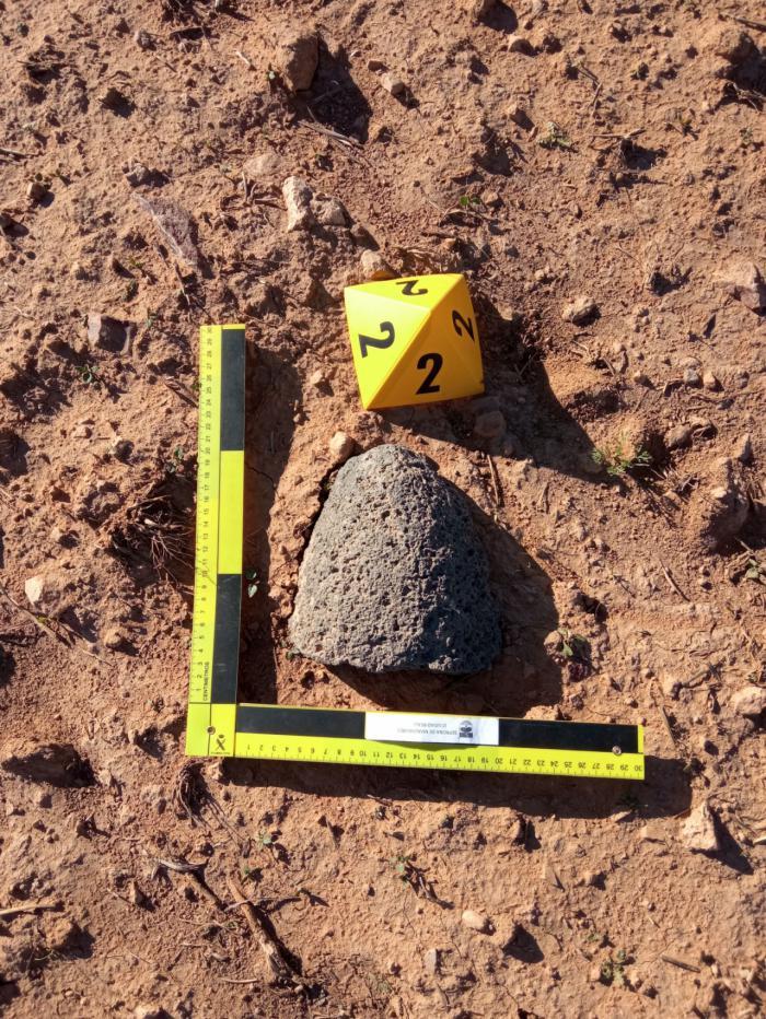 La Guardia Civil halla dos piezas líticas de la época protohistórica en Daimiel