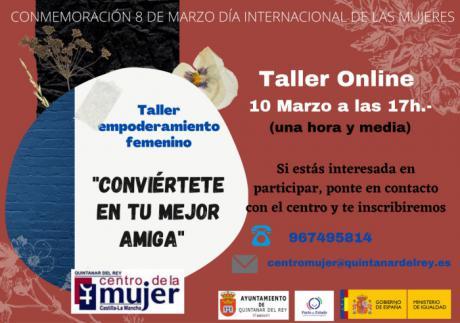 Quintanar del Rey visibilizará el 8M con un taller de empoderamiento femenino impartido por Tatiana R. de la Paz