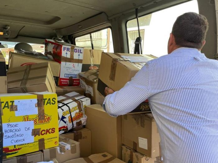 El PSOE de Horcajo de Santiago destaca la solidaridad de sus vecinos tras recoger cientos de kilos de productos para La Palma
