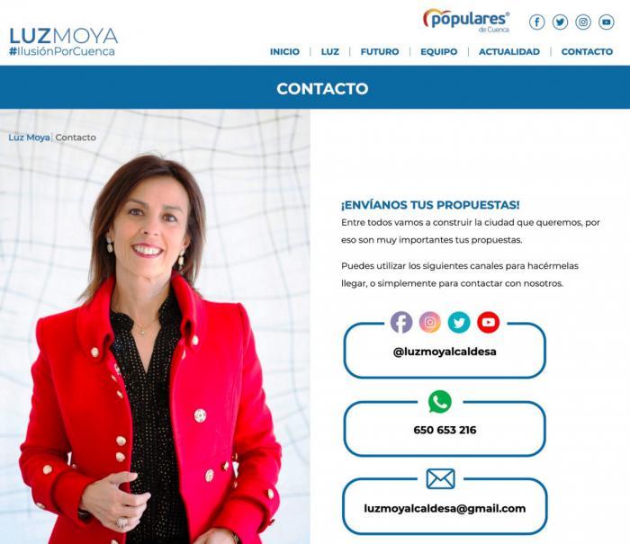 Luz Moya estrena página web para dar a conocer su equipo, propuestas y agenda
