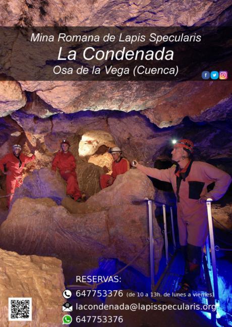 La mina romana de lapis specularis 'La Condenada' de Osa de la Vega vuelve a recibir visitantes a partir del 28 de marzo