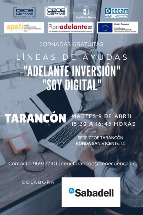 La sede de CEOE CEPYME Tarancón acoge una jornada para informar sobre las ayudas del Gobierno Regional