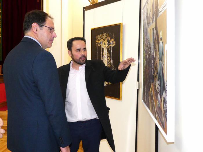 Diputación alberga 'Aire nazareno', la primera exposición del artista conquense Juan Manuel Cervera