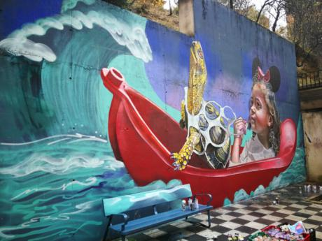 El jurado del I Concurso de Graffiti otorga el primer premio a la obra de Mr. Trazo, 'Patrimonio natural'