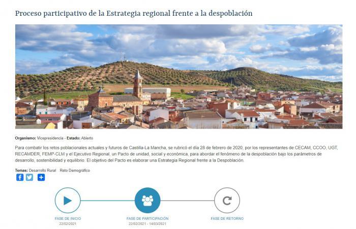 Castilla-La Mancha abre un cuestionario público para elaborar la Estrategia Regional frente a la Despoblación