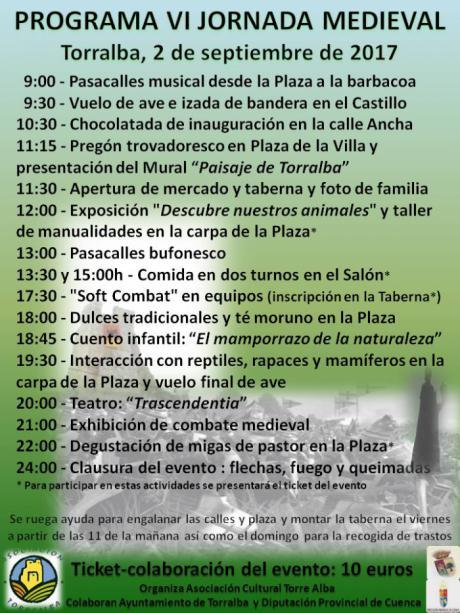 Torralba celebra el sábado 2 su VI Jornada Medieval