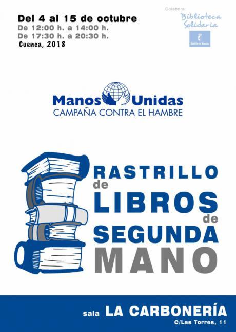Manos Unidas de Cuenca celebra la quinta edición de su rastrillo de libros de segunda mano