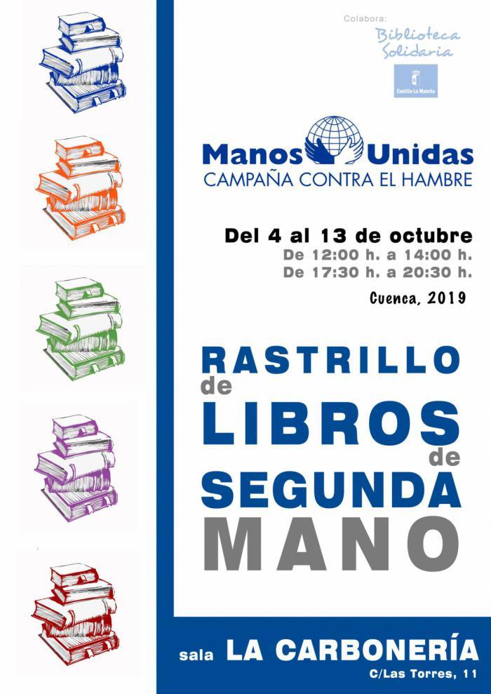 Manos Unidas celebra la sexta edición de su rastrillo de libros de segunda mano