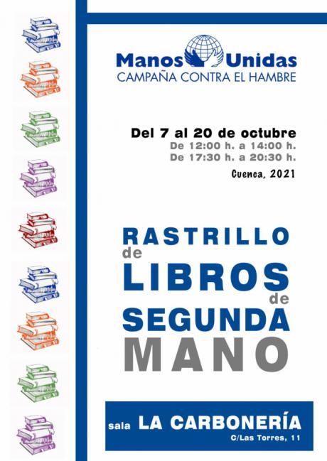 Manos Unidas celebra la séptima edición de su rastrillo de libros de segunda mano